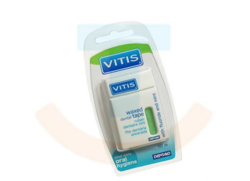 Vitis dental tape waxed fluoride en mint